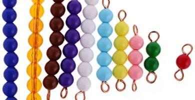 Material Montessori Matemáticas - Barras de Perlas