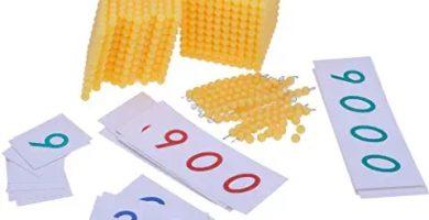 Material Montessori Matemáticas - Sistema decimal con números