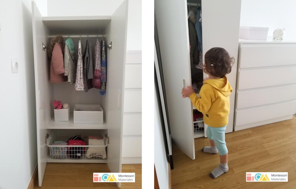 Armario para una habitación Montessori