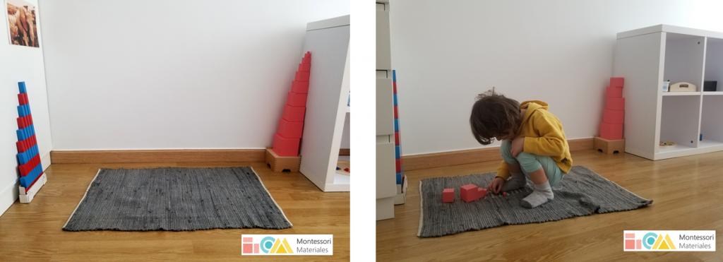 Espacio del trabajo en una Habitación Montessori