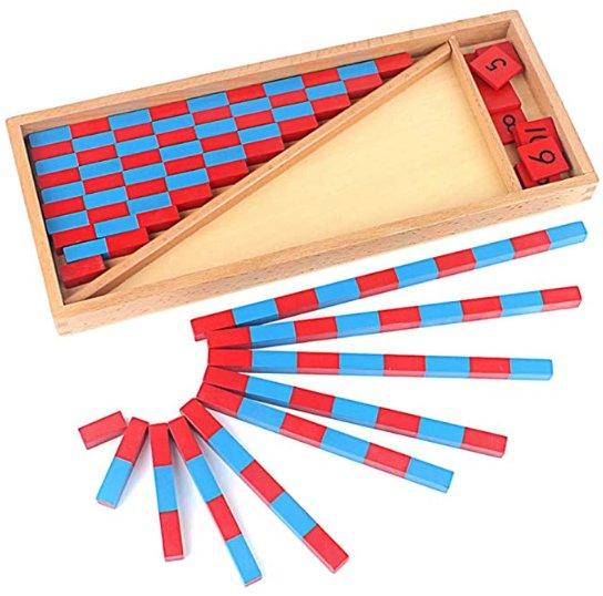 Barras numéricas Montessori pequeñas