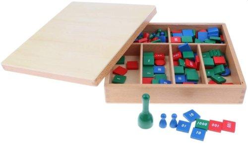Juego de Estampillas Montessori Juguete de Aprendizaje de Matemáticas para Desarrollo Temprano de B Blesiya