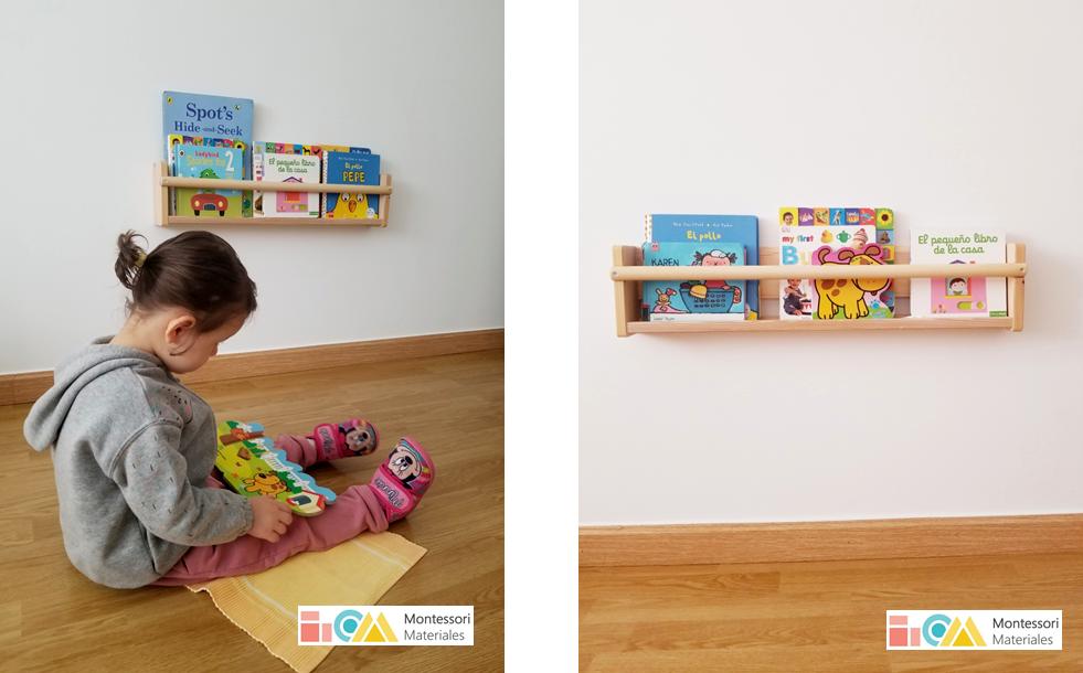Estantería de lectura Montessori