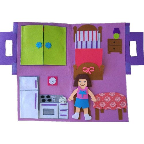 Libro Montessori para bebés Quiet Book Muñeca - Libros sensoriales Pispoleto