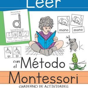 Leer con el Método Montessori: Cuaderno de actividades con letras, tarjetas y recortables - Julia Palmarola