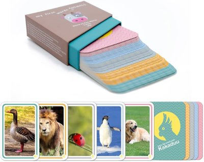 Tarjetas Montessori - mis primeras palabras: animales